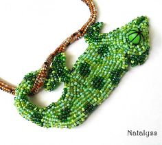 natalyss / Variabilný chameleón Chameleon, Beaded Bracelets, Handmade, Jewelry, Hand Made, Jewlery, Jewels, Chameleons, Craft