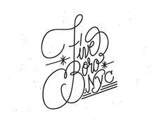Tom Grunwald - Handwritten Typography five borro