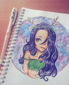 "I really love MadnessArtMc's illustration of me from my #Enchanted Oasis"" series! #ihascupquake"