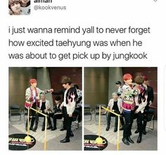 Honestly... Who wouldn't be excited? #taehyungbiased...iswear but seriously... TaeKook lives