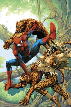 Spiderman vs Kraven The Hunter by Jamal Igle and Roger Cruz