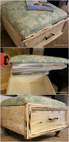 15 Brilliant Repurposing Projects for Old Drawers is part of Diy drawers - If you've been looking for a way to repurpose old dressers or cabinets, I have a treat for you! I've found 15 amazing and unique ways that you can use old drawers and make them Refurbished Furniture, Repurposed Furniture, Furniture Makeover, Dresser Repurposed, Furniture Projects, Wood Projects, Diy Furniture, Furniture Stores, Vintage Furniture
