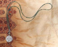 Pyrite Necklace long Necklace Artisan Pendant by TheJewelsILove