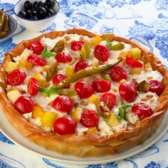 Greek Recipes, New Recipes, Feta, Healthy Recepies, Food Hacks, Vegetable Pizza, Food Videos, Nutella, Food And Drink