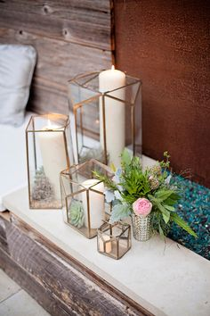 Love these candle holders {Nicolette Moku Photography}