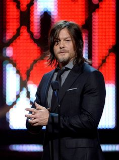 Pin for Later: 16 Very Important Highlights From This Year's Guys Choice Awards Norman Reedus Gave Us a Much-Needed Dose of The Walking Dead We missed you, Daryl. Sorry for all the crying.