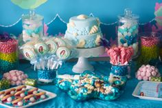 Mermaid Party Dessert Table #mermaid #party