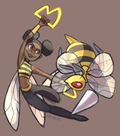 Bumblebee and Beedrill - Teen Titans and Pokemon crossover Teen Titans Love, Original Teen Titans, Teen Titans Fanart, Pokemon Crossover, Fandom Crossover, Warner Bros Pictures, Character Drawing, Character Design, Cartoon Network