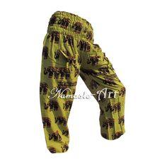 Indian Cotton Unisex Yoga Trousers Gypsy Hippie Aladdin Baggy Casual Harem Pants #NamasteArt #Harem