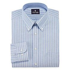 Fear shirt jcp | Stafford® Travel Wrinkle-Free Oxford Dress Shirt