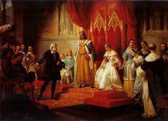 juan cordero Regreso de Colón ante los Reyes Católicos - Hledat Googlem