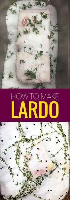Lardo is cured pork back fat and so delicious. Learn how to make lardo with this easy recipe and impress all your italian friends. ~ http://www.baconismagic.ca