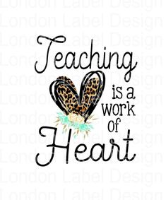 Teaching is a work of heart, Digital Design, PNG image, sublimation design Patch Design, How To Make Earrings, True Colors, Teacher Gifts, Teaching, Effort, Software, Digital, Knowledge