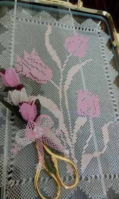 This Pin was discovered by Nev Needle Lace, Filet Crochet, Louis Vuitton Damier, Needlework, Pattern, Point Lace, Lace, Tejidos, Bead