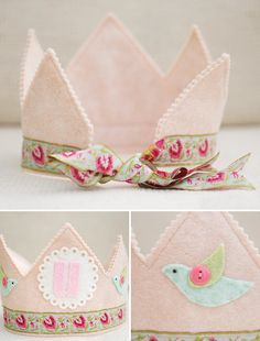 handmade {Felt Party Decor} Inspiration to make individual crowns for seren and friends