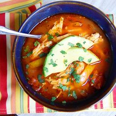 Paleo Slow Cooker Chicken Enchilada Soup- holy moly this is good! One of my favorite Paleo soups of all-time. Paleo Recipes, Slow Cooker Recipes, Mexican Food Recipes, Soup Recipes, Cooking Recipes, Lunch Recipes, Easy Recipes, Chicken Enchilada Soup, Tortilla Soup
