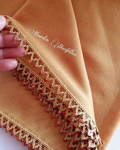 885 Likes, 14 Comments - Hasretin Marifetleri ( on Instagra. Crochet Border Patterns, Crochet Lace Edging, Knitting Patterns Free, Crochet Stone, Love Crochet, Bead Crochet, Crochet Necklace, Filet Crochet, Crochet Stitches
