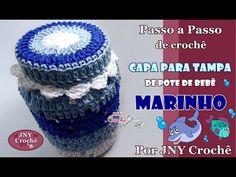 PAP de crochê Capa para tampa de pote de bebê por JNY Crochê - YouTube