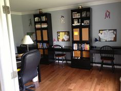 Turned The Formal Living Room Into A Family Office Now Its Space We Can