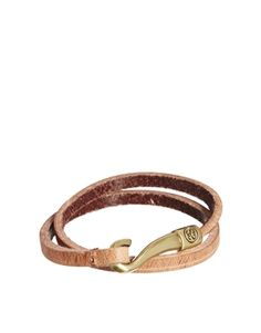 Stussy Hook Leather Wrap Bracelet