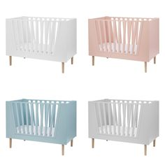 Our new Baby Cot is available in 4 different colours. Which colour is your favorite? Pink Crib, Purple Bedding, Deer Bedding, Done By Deer, Baby Bedroom, Nursery Design, Baby Furniture, Baby Cribs, Girl Nursery