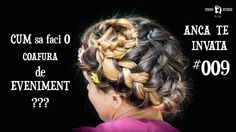 Cum Sa faci o coafura de Eveniment #009 ANCA TE INVATA Dreadlocks, Studio, Hair Styles, Beauty, Youtube, Hair Plait Styles, Hairdos, Haircut Styles, Dreads