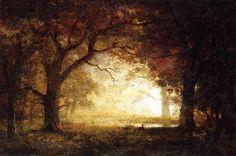 Forest Sunrise-Albert Bierstadt