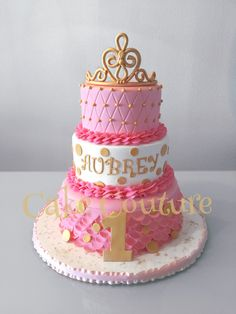 My Pink & Gold Princess Cake