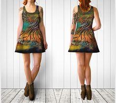 Totem Flare Dress, C