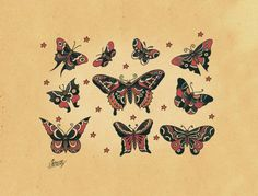 Old School Tattoo Flash :: butterfly_desktop.jpg picture by mcircosta - Photobucket
