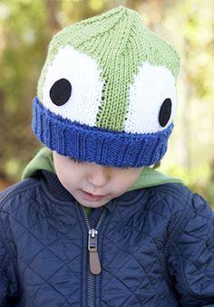 Patons Canadiana - Peek-A-Boo! Hat (knit)  Free pattern