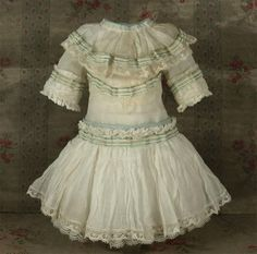 Wonderful Antique Thin Muslin French Bebe Dress for JUMEAU, BRU other from mybebes on Ruby Lane
