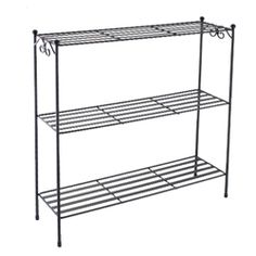 Longaberger Wrought Iron WI Plate Rack Countertop Stand w/Woodcrafts ...