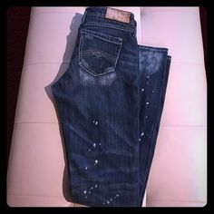 Distressed Express Jeans Distressed jeans by Express (worn once) Express Jeans Straight Leg