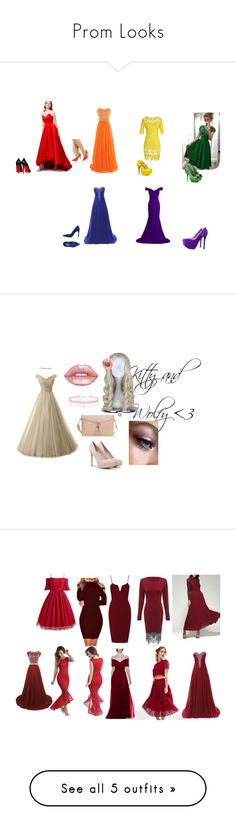 """""""Prom Looks"""" by kitiwa-gang-aji on Polyvore featuring WithChic, ASOS, Qupid, Pleaser, Francesco Milano, CHARLES & KEITH, Miss Selfridge, Lime Crime, True Decadence and Rachel Allan"""