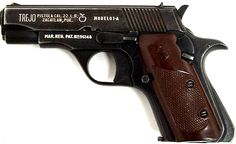 Trejo Pistol - Nearly identical in operation to the Colt 1911, this little Mexican pistol hold the distinction of being the smallest fully automatic pistol ever produced. Manufactured between 1952 and 1972, the Tejo came in .22LR, .32ACP, and .380ACP. Because of its small magazine capacity (8-11 rounds), they fired in bursts rather than full auto.