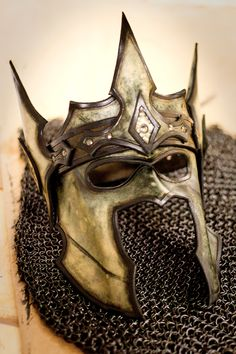 Crown of the Warrior King Handmade Leather Mask by OsborneArts Armadura Medieval, Larp, Cosplay, Character Inspiration, Character Design, Steampunk, Beautiful Mask, Leather Mask, Fantasy Armor