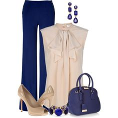 """""""Navy & Nude"""" by maggie478 on Polyvore"""