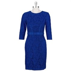 Taylor Lace Dress with Grosgrain Ribbon #VonMaur