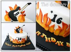 Image result for flames birthday cake