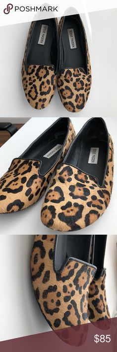 Steve Madden cheetah print flats Faux cheetah fur flats! Perfect statement piece for your closet! Steve Madden Shoes Flats & Loafers