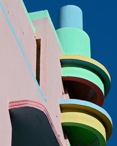Miami has adopted art deco as its own, with areas like Ocean Drive on South Beach typical of the style.
