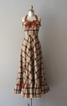 1930's plaid  dress