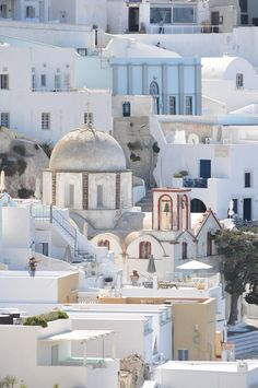 Caldera in Fira, Santorini Fira Santorini, Mykonos, Paros, Wonderful Places, Beautiful Places, European Travel, Travel Europe, Travel Destinations, Greece Travel