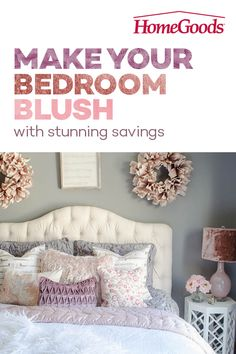 Update your bedroom with calming colors and cozy textures from HomeGoods! Inspire your palette with unexpected bedding, pillows, accent furniture and more at ever-amazing prices! Dream Bedroom, Home Bedroom, Girls Bedroom, Bedroom Decor, Bedroom Ideas, Master Bedroom, How To Feng Shui Your Home, Neutral Bedding, Big Girl Rooms