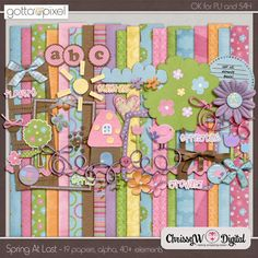 Spring At Last Digital Scrapbook Kit at Gotta Pixel. www.gottapixel.net/