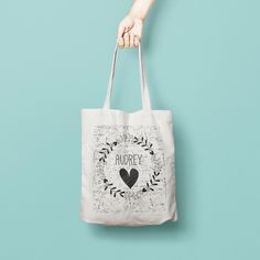 Personalised Name Bridesmaid Tote Bag, Wreath Tote Bag Bridesmaid - Bridesmaid Gift - Custom Canvas Tote Bag - Printed Tote Bag Cotton Totes are that universal product that everyone needs and uses. A book bag, a grocery bag, or just somewhere to throw in all of those little everyday items.