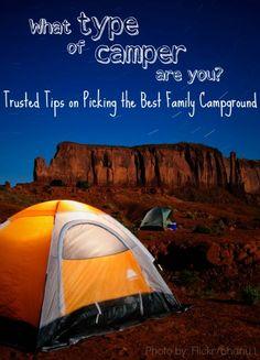 What type of camper are you? Tips on picking the best family campground based on your family's adventure personality