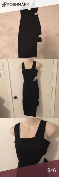New Topshop Black Cutout Dress Brand new. Purchased at Nordstrom. Euro 36, US 4 Topshop Dresses