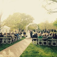 Paige and Joseph got amazing weather for their Lewis Ginter wedding tonight!